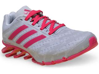 Tênis Feminino Adidas D69804 Springblade Cinza/pink - Tamanho Médio
