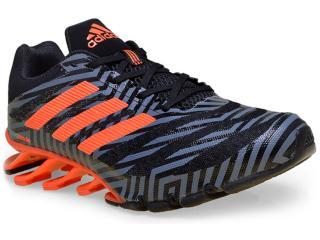 Tênis Masculino Adidas D69790 Springblade  Preto/grafite/laranja - Tamanho Médio