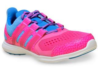 978eab1b9b9 Tênis Feminino Adidas Af4511 Hyperfast 2.0 k Text Pink azul