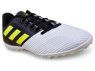 Tênis Masculino Adidas H68482 Artilheira ii tf Branco/preto/limão - Tamanho Médio