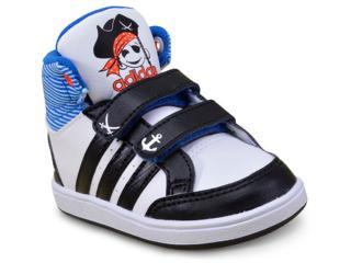 740c73fc158 Tênis Masc Infantil Adidas Cg5737 Hoops Cmf Mid Inf Branco preto azul