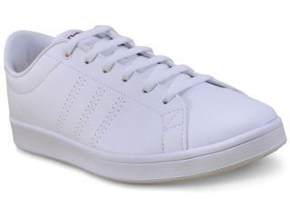 Tênis Feminino Adidas Bb9611 Advantage cl qt  Branco/rosa - Tamanho Médio