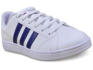 Tênis Feminino Adidas Bb9620 Advantage w Branco/azul - Tamanho Médio
