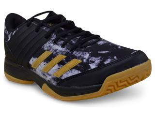 Tênis Masculino Adidas By2572 Ligra 5 Preto/dourado - Tamanho Médio