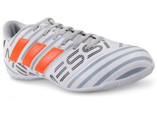 c6c9398c31 Tênis Masculino Adidas S77203 Nemeziz Messi 17.4 in Branco cinza laranja