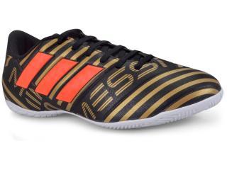 Tênis Masculino Adidas Cp9067 Nemeziz Messi 17 4 in Preto/dourado/laranja - Tamanho Médio