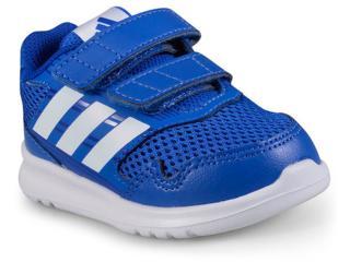 a3614139545 Tênis Masc Infantil Adidas Cq0028 Altarun cf Azul branco
