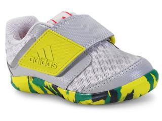 Tênis Masc Infantil Adidas Cp9429 Fortapla y Cool i   Cinza/verde - Tamanho Médio