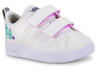 Tênis Fem Infantil Adidas B75969 vs Adv cl Off White - Tamanho Médio
