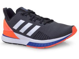 Tênis Masculino Adidas B44802 Questar Preto/laranja/azul - Tamanho Médio