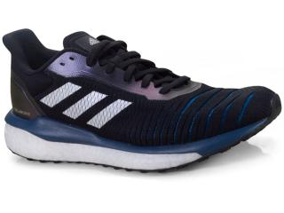 Tênis Masculino Adidas D97442 Solar Drive m Preto/azul/branco - Tamanho Médio