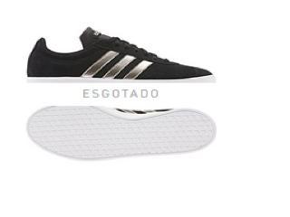 Tênis Feminino Adidas Ee6784 vl Court 20 w Preto/prata - Tamanho Médio