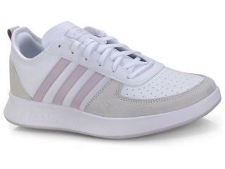 Tênis Feminino Adidas Ee9832 Court80s Branco/cru/lilas - Tamanho Médio