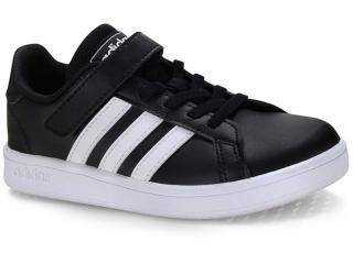 Tênis Uni Infantil Adidas Ef0108 Grand Court c Preto/branco - Tamanho Médio