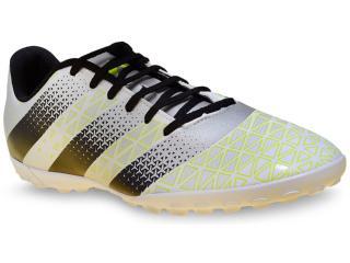 Tênis Masculino Adidas H68342 Artilheira tf Prata/preto/limão - Tamanho Médio