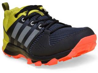 Tênis Masculino Adidas Aq5921 Galaxy Trail  Preto/amarelo/laranja - Tamanho Médio