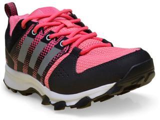 Tênis Feminino Adidas Ba8341 Galaxy Trail Preto/rosa - Tamanho Médio