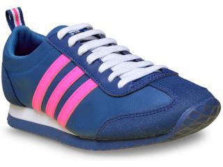 Tênis Feminino Adidas B74515 vs Jog w Azul/pink/branco - Tamanho Médio