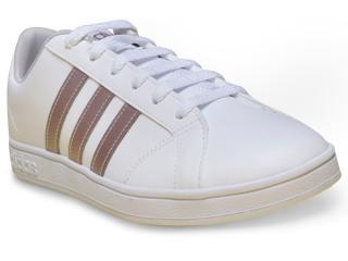 Tênis Feminino Adidas Aw3865 Advantage Branco - Tamanho Médio