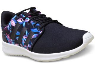 Tênis Feminino Adidas Aw4007 Cloudfoam Preto/branco - Tamanho Médio