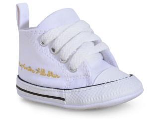 Tênis Uni Infantil All Star Ck04400003 Branco/preto - Tamanho Médio