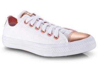 Tênis Feminino All Star Ct12650002 Branco/ouro - Tamanho Médio