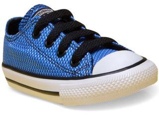 Tênis Masc Infantil All Star Ck04240002 Azul/preto/branco - Tamanho Médio