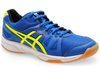 Tênis Masculino Asics B400n.4204 Upcourt Azul/amarelo/preto - Tamanho Médio