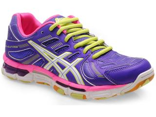 Tênis Feminino Asics B356y.3801 Gel Volleycross  Uva/branco/pink - Tamanho Médio
