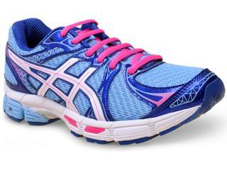 Tênis Feminino Asics T4b6n.4401 Gel  Exalt 2 Azul/pink - Tamanho Médio