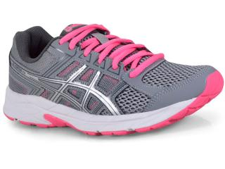 040603aa75 Tênis Feminino Asics T076a.1593 Gel Contend 4a Cinza rosa Neon