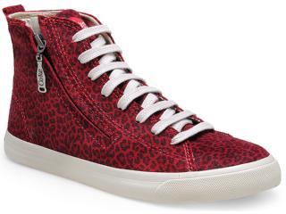 Tênis Feminino Coca-cola Shoes Cc0664 Burgundy - Tamanho Médio