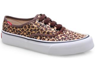 Tênis Feminino Coca-cola Shoes Cc0733 Marrom - Tamanho Médio