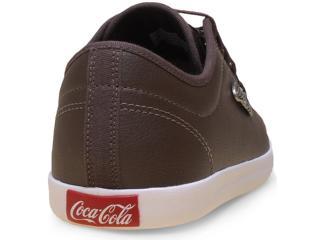 d492ce6b6be Tênis Coca-cola Shoes CC0800 Marrom Comprar na Loja...