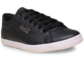 Tênis Masculino Coca-cola Shoes Cc0800 Preto - Tamanho Médio