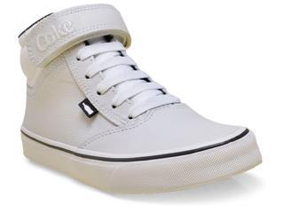 Tênis Feminino Coca-cola Shoes Cc0534 Branco - Tamanho Médio