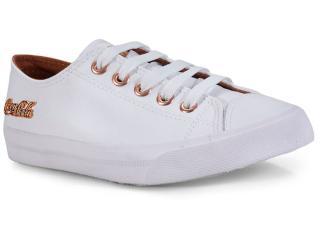 Tênis Feminino Coca-cola Shoes Cc0887 Branco/cobre - Tamanho Médio