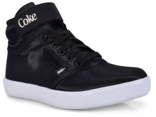Tênis Feminino Coca-cola Shoes Cc1435 Preto - Tamanho Médio