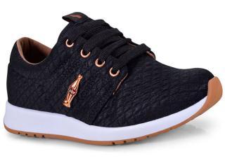 Tênis Feminino Coca-cola Shoes Cc1441 Preto/cobre - Tamanho Médio