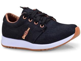 Tênis Feminino Coca-cola Shoes Cc1478 Preto - Tamanho Médio