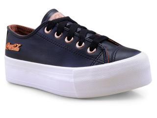 Tênis Feminino Coca-cola Shoes Cc1550 Preto/cobre - Tamanho Médio