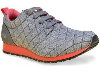 Tênis Feminino Coca-cola Shoes Cc1016 Cinza/coral - Tamanho Médio