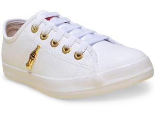 Tênis Feminino Coca-cola Shoes Cc0873 Branco/dourado - Tamanho Médio