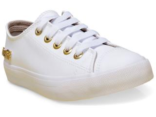 Tênis Feminino Coca-cola Shoes Cc0887 Branco/dourado - Tamanho Médio
