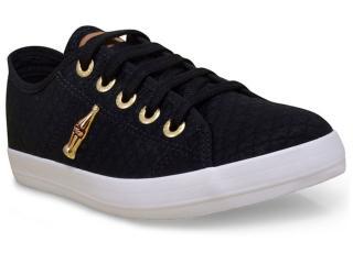 Tênis Feminino Coca-cola Shoes Cc1304 Preto/dourado - Tamanho Médio