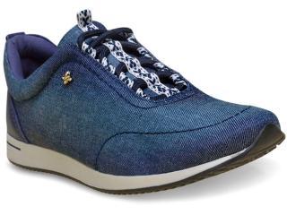 Tênis Feminino Cravo e Canela 97623/1 Jeans Azul - Tamanho Médio