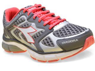 Tênis Feminino Diadora 125700  New Stratus C0393 Chumbo/pink - Tamanho Médio