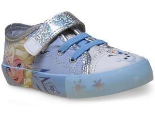 Tênis Fem Infantil Diversao Dd0144 Frozen Azul - Tamanho Médio