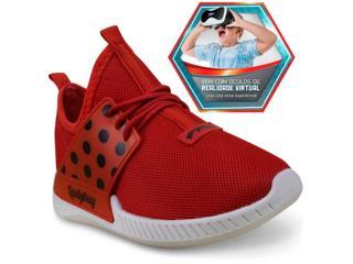 Tênis Fem Infantil Grendene 21744 Ladybug Branco/vermelho - Tamanho Médio