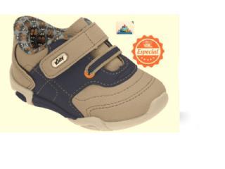 Tênis Masc Infantil Kidy 00804808977 Taupe/azul - Tamanho Médio